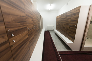 Interior Of A Locker Changing Room
