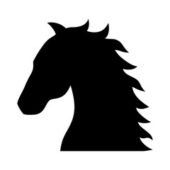 Horse, stallion, colt or equestrian flat icon for apps and websites