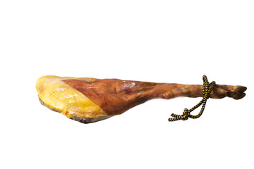 jamon iberico isolated leg