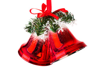 Christmas bells with a red bow