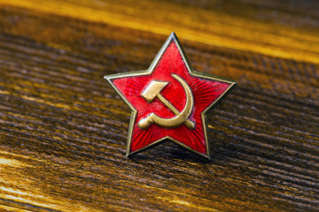 military red star badge