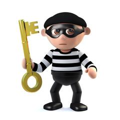 3d Burglar holds the key