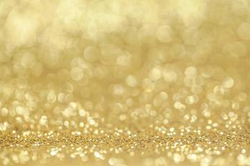 Abstract golden glitter background