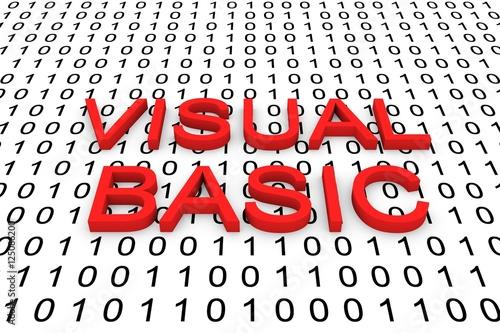 VISUAL BASIC binary code 3D illustration
