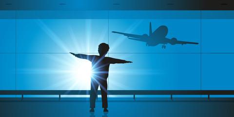 Enfant - Avion - Rêve - Pilote