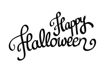 Calligraphic Halloween vector