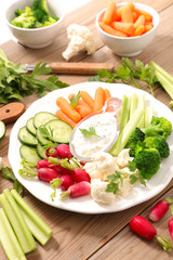 vegetable and dip