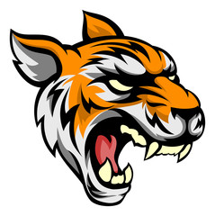 Tiger Mean Animal Mascot