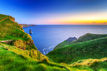 Wall Mural - Cliffs of Moher at sunset in Co. Clare, Ireland