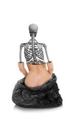 Women Skeleton Trash, Photo Manipulation