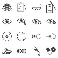 optometry icons vector set