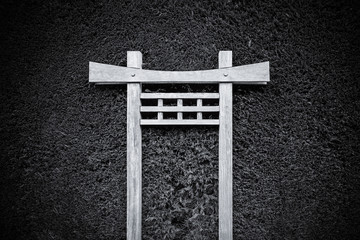Japanese Torii on Hedge