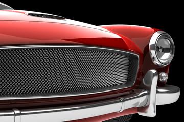 Concept vintage red car