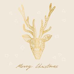 Vector deer postcard.