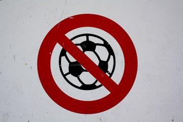 Fußballspielen verboten