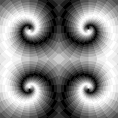Vector Illustration. Seamless Monochrome Swirls of the Rectangles. Optical Illusion of Perspective and Volume. Suitable for Web Design.