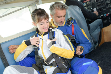preparing to skyjump