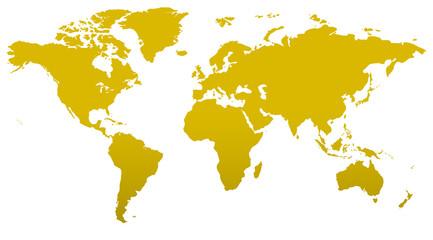 Foto auf Leinwand Weltkarte Similar world map blank for infographic isolated