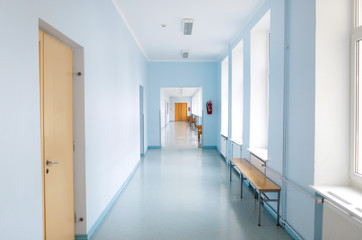 Empty School Corridor Buy This Stock Photo And Explore Similar