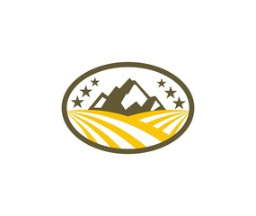 Mount farm classic logo design