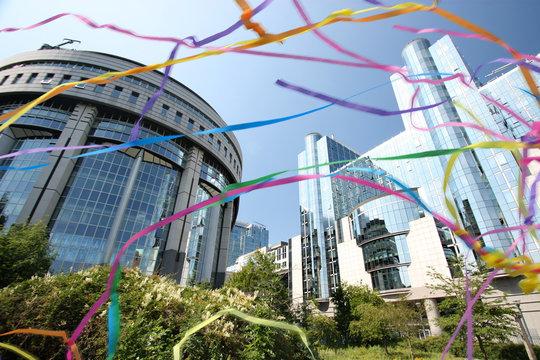 Bruxelles - Parlement européen avec serpentins