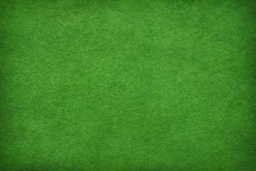 Abstract green felt background
