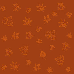 pattern with leaves, vector illustration