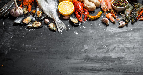 Wall Mural - Fresh seafood.
