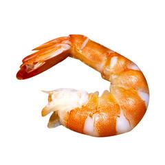 shrimp isolated on white background. shrimp without shell