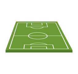 soccer field camp isolated icon vector illustration design