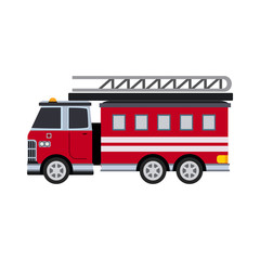 fire engine flat icon