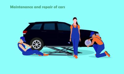 Maintenance and repair cars