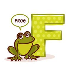 ABC ZOO Alphabet Letter F Frog