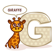 ABC ZOO Alphabet Letter G Giraffe