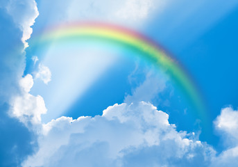 Foto En Lienzo - rainbow in the sky among clouds