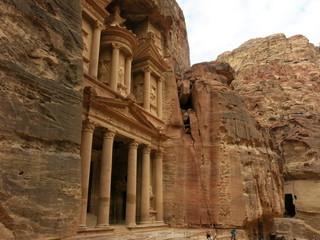 Khazne al-Firaun - das Schatzhaus des Pharao in Petra