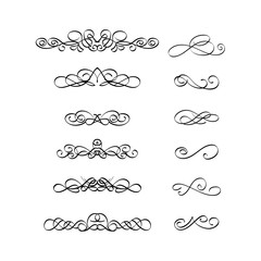 Calligraphic border frame element