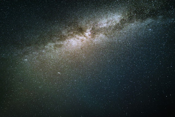 Milky Way in the night sky.