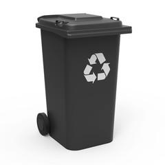 Mülltonne schwarz