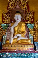 Myanmar white Buddha Image Statue