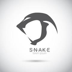 vector snake simple black logo design element.