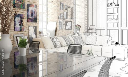 """wohnzimmer zeichnung:Im Wohnzimmer (Zeichnung)"""" Imagens e fotos de stock Royalty Free no"""