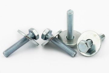 Steel bolt and shim