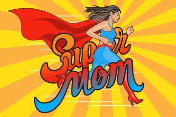 Super Mom runing woman