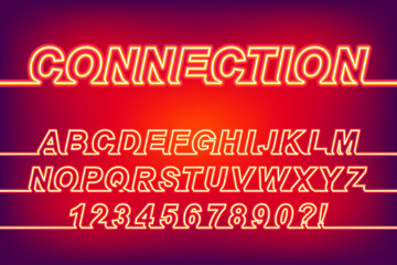 Neon Connection One Line Font