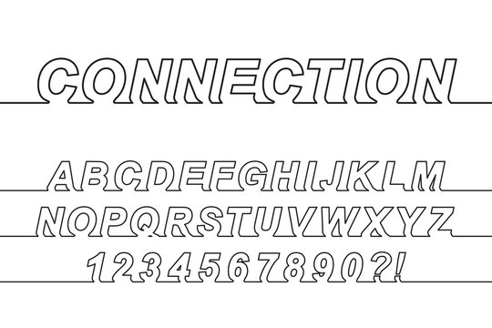 Connection One Line Font