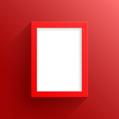 Vector Red Frame Design With White Background