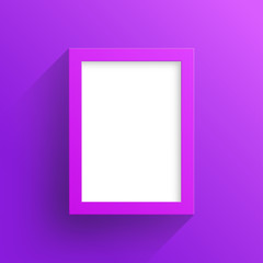Vector Purple Frame Design With White Background