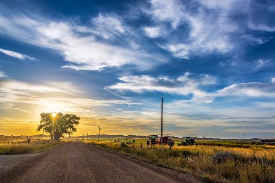 Rural Wyoming Landscape