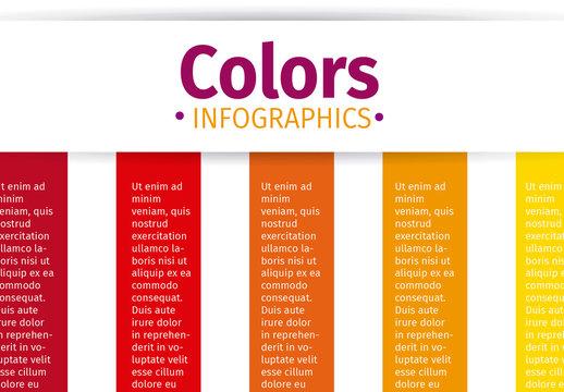 Warm Tone Vertical Ribbon Tab Infographic 1